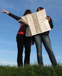 Læser landkort og finder vej