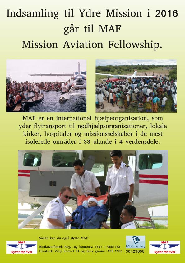 2016 – Mission Aviation Fellowship (MAF) flyer