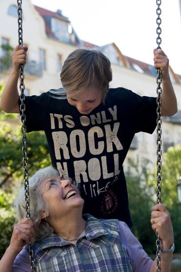Ehrenamtliche mit Kind