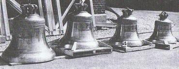 Struer Kirkes oprindelig klokke fra 1891 blev udskiftet med fire nye klokker i 1970
