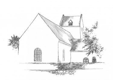 Stoense kirke, stregtegning