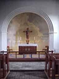 Maleri i korbuen i Ansgarkirken indenfor
